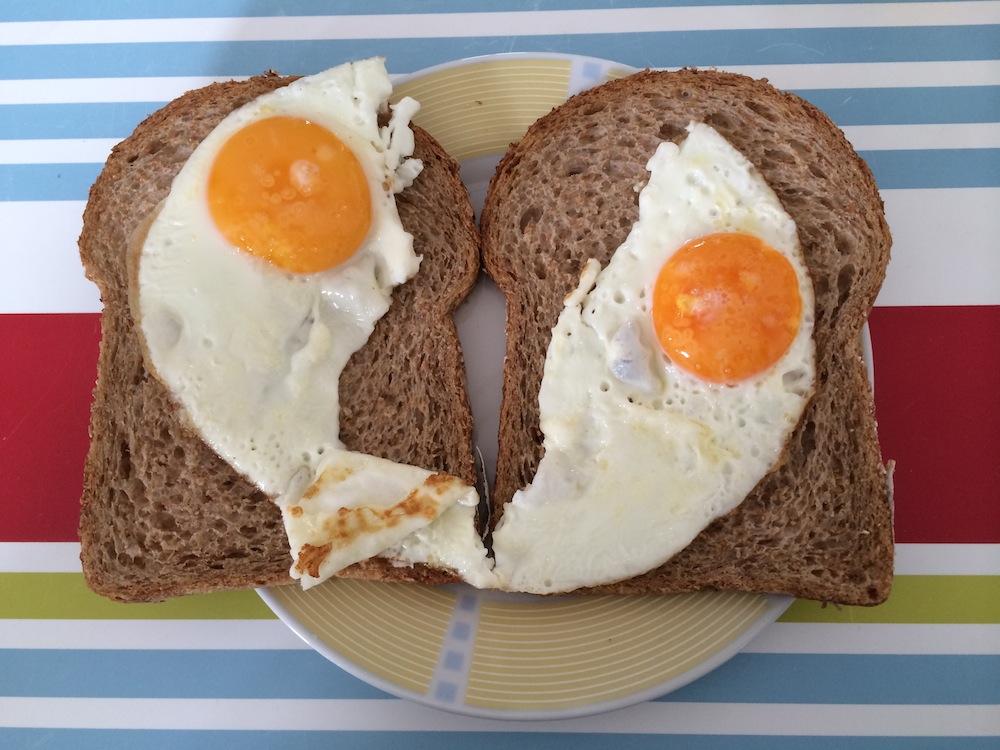 Eitje op brood; simpel maar lekker
