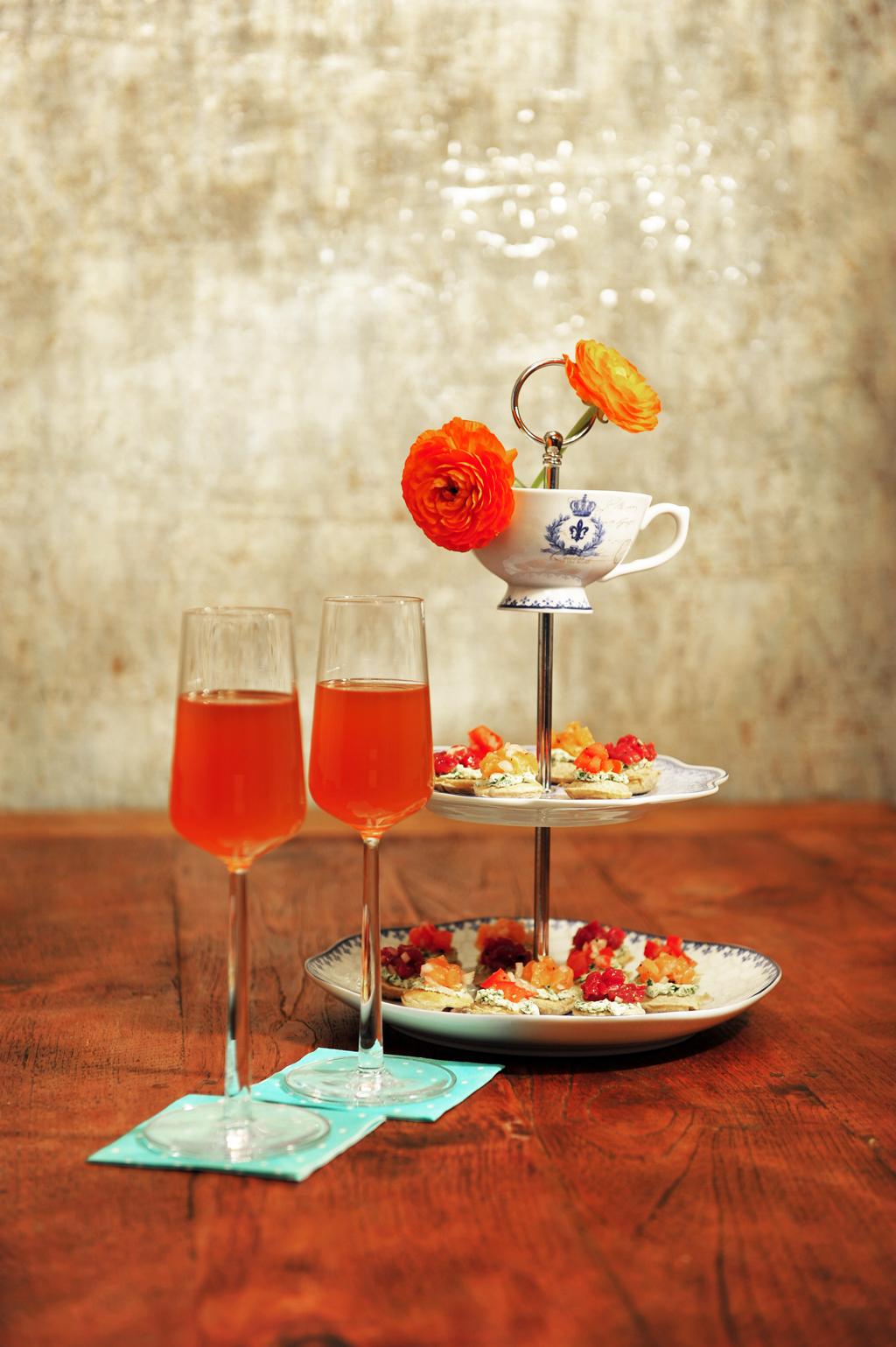 Chai cocktail en hartige poffertjes van Mathijs Vrieze
